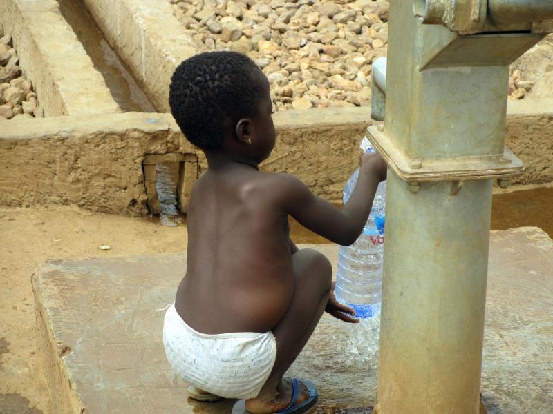 Ghana water filter boy